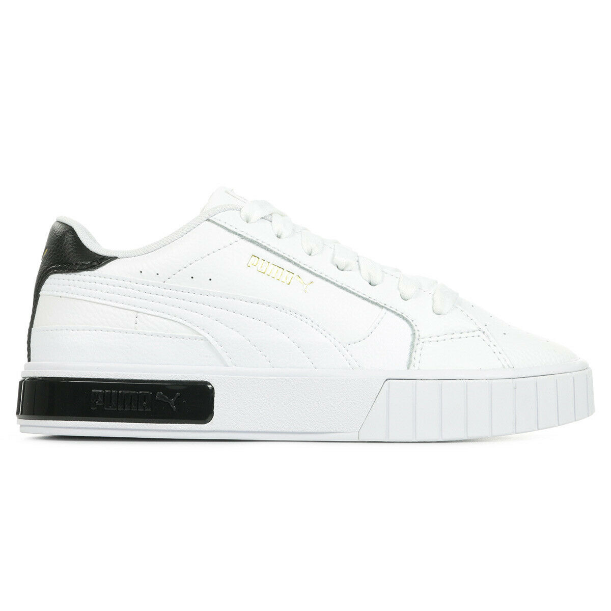 Chaussures Baskets Puma femme Cali Star Wn's taille Blanc Blanche Cuir Lacets
