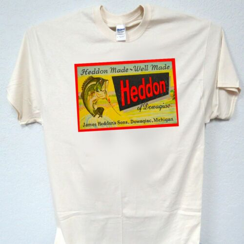 "HEDDON,Fishing Lure,40/'s,/""Retro Box Art/"" T-SHIRT,S,M,L,XL,2X,3X,4X,5X,T-278,"