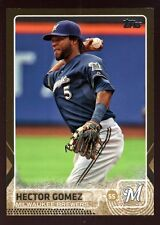 HECTOR GOMEZ BREWERS 1596/2015 GOLD BORDER PARALLEL SP 2015 TOPPS UPDATE #US229