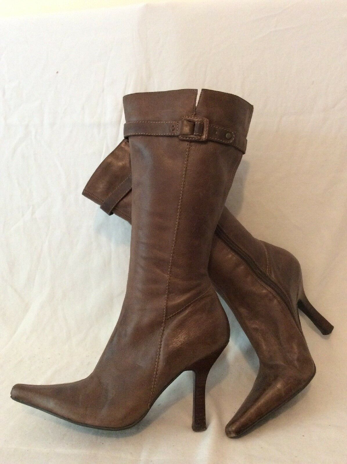 Lilley&Skinner Brown Mid Calf Leather Boots Size 7