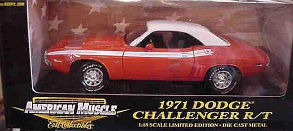 1971 Challenger R t Hemi-arancia 1 18 Ertl American Muscle 32940