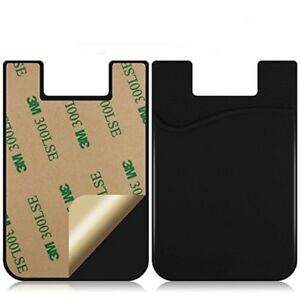 3PC-Silicone-Mobile-Phone-Wallet-Credit-Card-Cash-Stick-Adhesive-Holder-Case-New