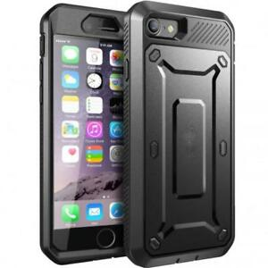 iPhone 7 8 - CASE SHOCK RESISTANT RUGGED HOLSTER COVER BUILT-IN SCREEN PROTECTOR