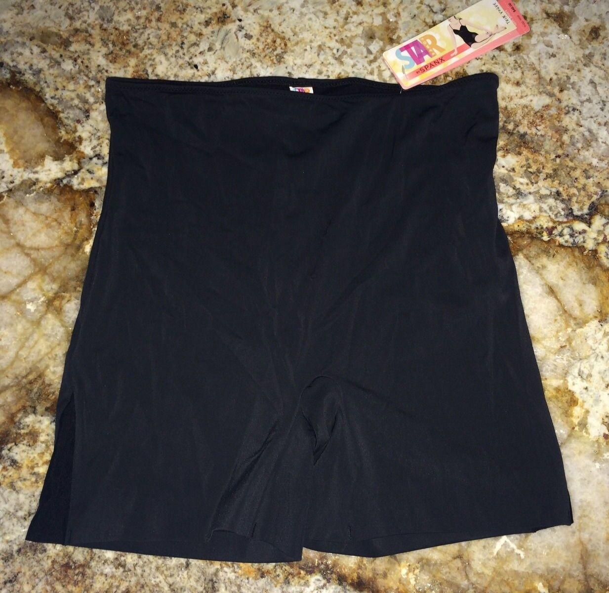 90dc9c69c12 STAR POWER SPANX Thin Vogue Medium Control Black Girl Shorts NEW Womens S L  XL