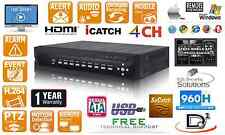 4 Channels Realtime 120FPS H.264 CCTV Security DVR 4CH