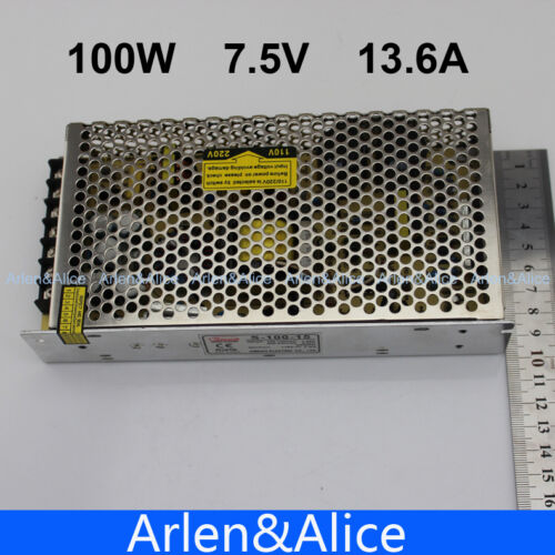 100 W 7.5 V 13.6 A Single Output Switching Power Supply For DEL Strip Light