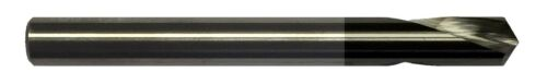 """1//4/"""" 2 FLUTE 120 DEGREE CARBIDE SPOT DRILL TiALN COATED"""