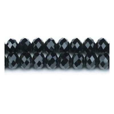 Pcs Crafts Black//Silver Czech Crystal Glass Faceted Rondelle Beads 8 x 10mm 70