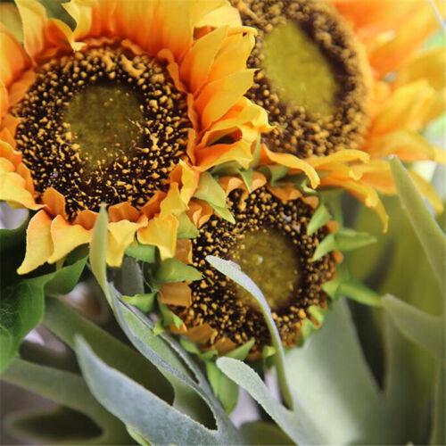 7 Heads Artificial Sunflower Fake Silk Flowers Bouquet Home Party Wedding Decor