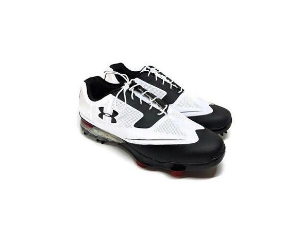 Under Armour Tour Tips Golf Shoes Size 11 Black/White Tuxedo Spieth 13019893-104