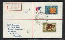 PAPUA NEW GUINEA (P1101B) RELIEF #4 1972 REG 7C +30C MOUSE REG ABAU TO CANA