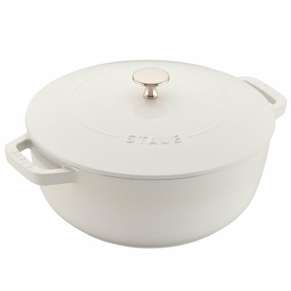 Staub 11732402 Essential French Oven, Cast Iron, 3.75 quart, blanc