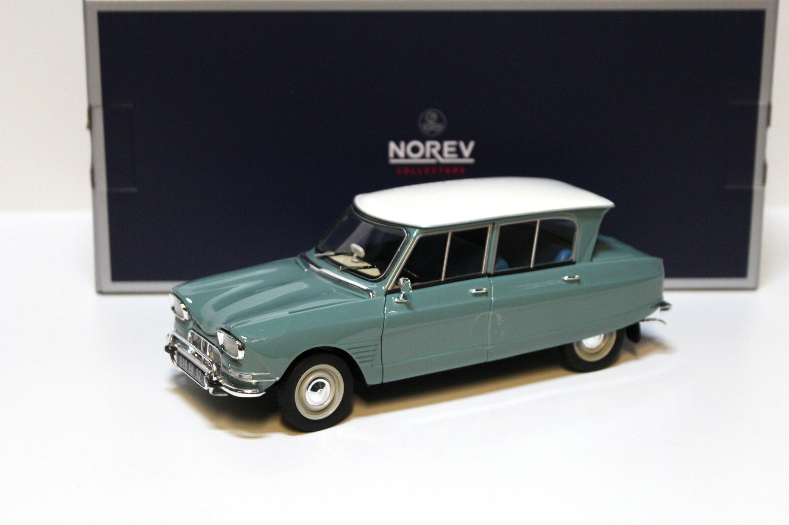 1 18 NOREV CITROEN AMI 6 Jade vert 1964 New chez premium-MODELCARS
