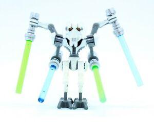 Lego-General-Grievous-75040-75199-Bent-Legs-White-Armor-Star-Wars-Minifigure