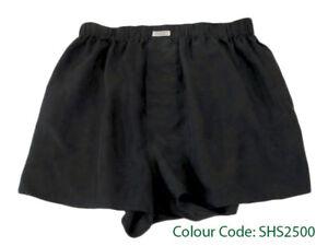 Silk-Boxer-Short-Men-Underwear-Underpants-Soft-Briefs-Trunk-Black-Noir-S-M-L-XL