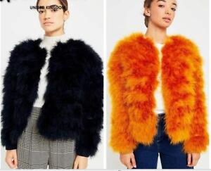 de de véritable véritable de chandail de manteau d'autruche de fourrure mode fourrure 100 plume manteau châle YpfwqEq