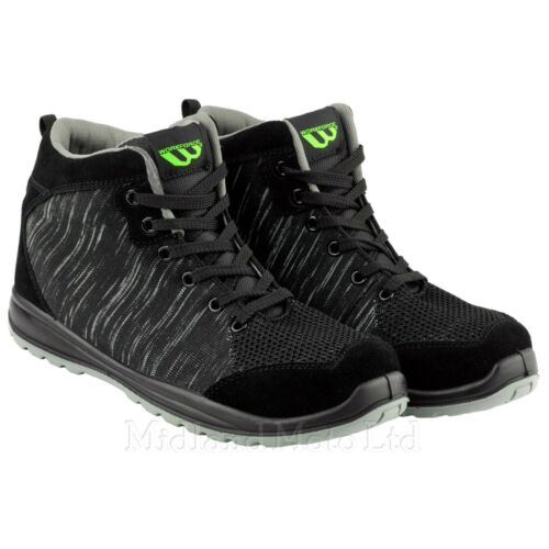 Workforce Steel Toe Cap Black Knitted Safety Boots Shoes Lightweight WF36R