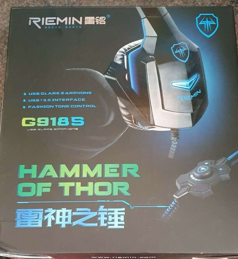 Hammer Of Thor Gaming Headphones G918s Usb & 3.5mm Jack