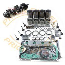 Isuzu 4JB1 Overhaul Kit&Crankshaft&Nozzles&Connect Rods For Bobcat 843 853 1213