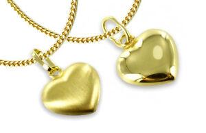 Kette GOLD DOUBLE ECHT GOLD Herz Anhänger Herzkette für Kinder