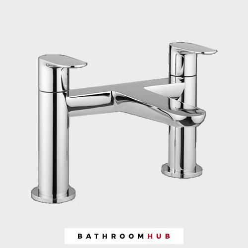Edge Bain de remplissage Chrome salle de bains robinet-Véritable