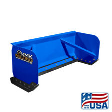 8 Blue Skid Steer Snow Pusher Boxbobcatkubotaquick Attachfree Shipping