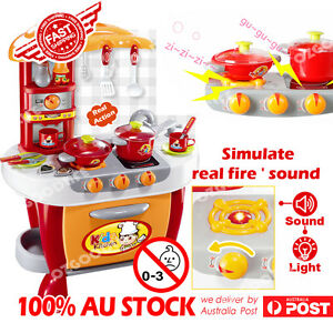 Kids Childrens Cooking Pretend Role Play Toy chef Kitchen Utensils ...