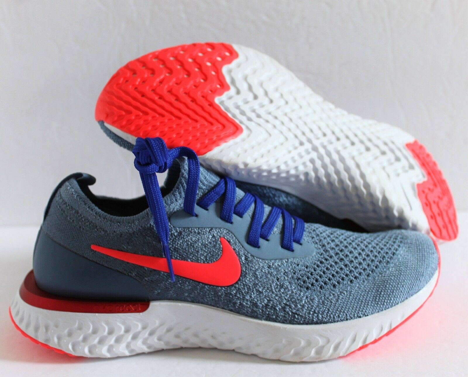 NIKE WOMEN EPIC REACT FLYKNIT ID blueE-CRIMSON-WHITE SZ 6 [AJ7286-991]
