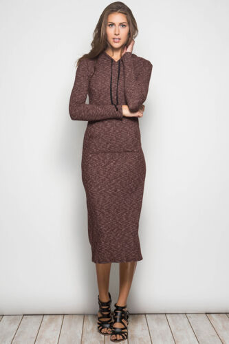Boutique Hoodie Long Bodycon Sweatshirt Maxi Cotton Pullover Dress Pocket