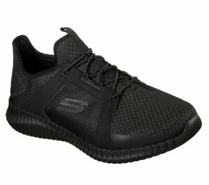 Skechers-Shoes-Black-Men-Memory-Foam-Bungee-Sport-Train-Mesh-Casual-Slipon-52640