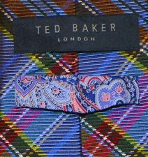 TED BAKER  [ LONDON ]  men's tie 100% Silk Made in USA