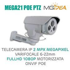 TELECAMERA IP 2 MPX MEGAPIXEL VARIFOCALE 6/22mm FULL HD 108O P MOTORIZZATA ONVIF