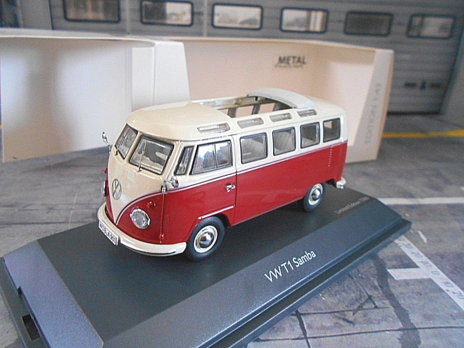 VW Volkswagen Bus T1 Samba rot creme weiss 450374300 Schuco 1 43  | Kostengünstig
