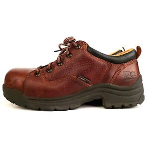 93e3f5de27f Details about Timberland Pro Series Titan Oxford Shoes Boots Safety Toe  Womens 7 Work Brown
