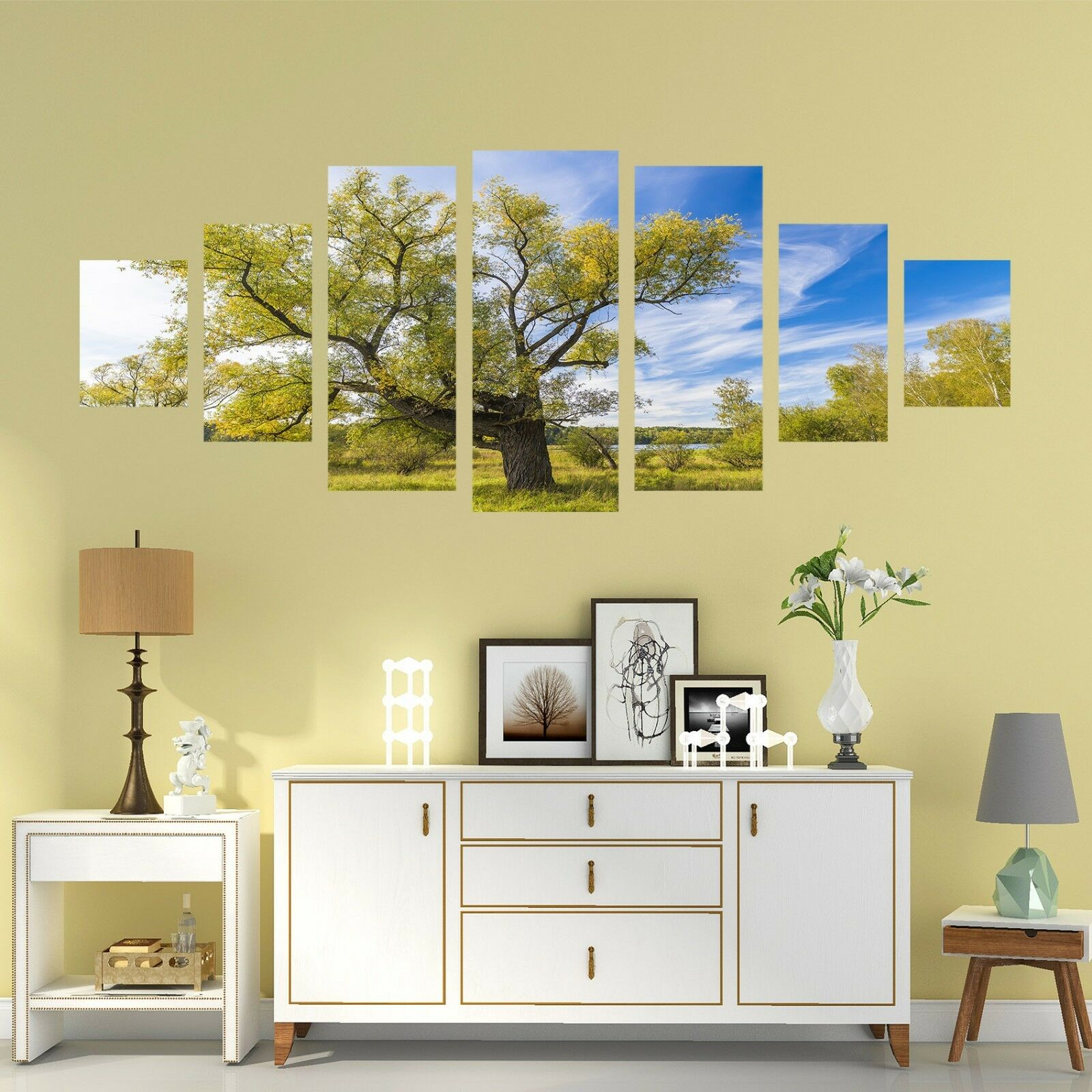 3D bluee Sky Tree 66 Unframed Print Wall Paper Decal Wall Deco Indoor AJ Wall