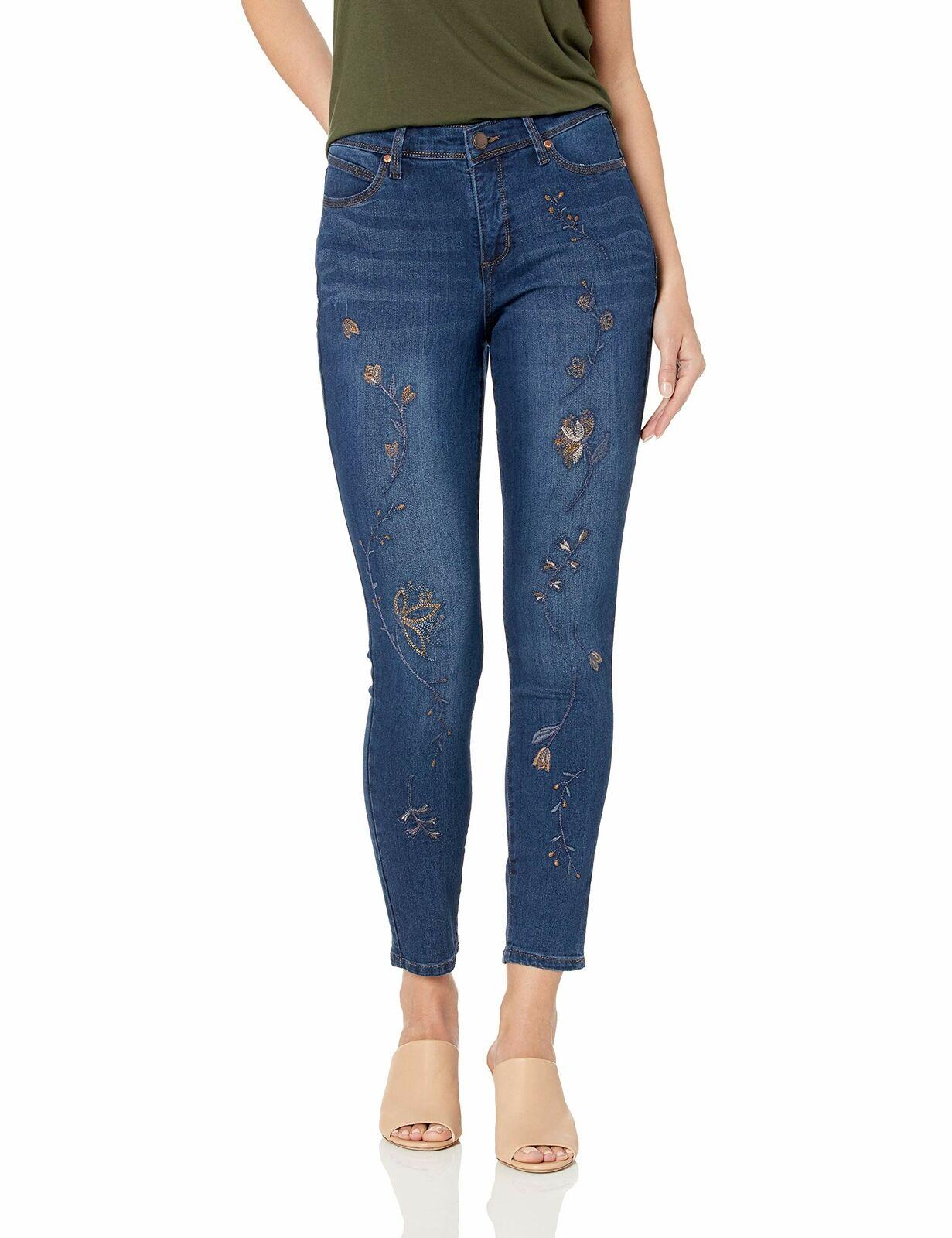 Jag Jeans Womens Petite Mera Skinny Ankle Jean in Waffle Knit Denim