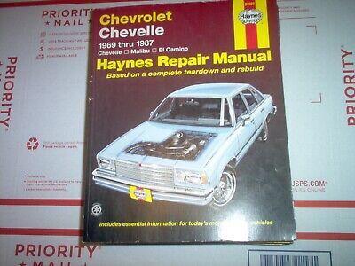 Haynes Repair Manual 69-87 Chevelle El Camino Malibu w ...