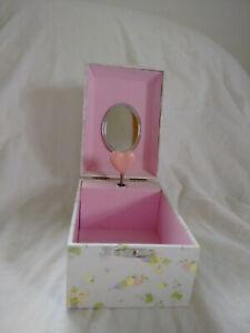 Vintage musical jewelry box plays Blue Denube Waltz