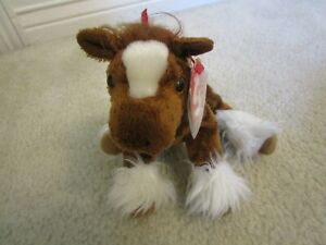 NEW ~ TY 2001 HOOFER the CLYDESDALE HORSE BEANIE BABIE ~ Tag Protected