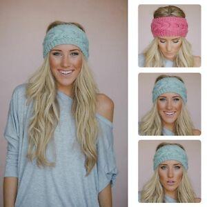 sélectionner pour dernier véritable style actuel Détails sur Femme Serre-tête Bandeau Bande Cheveux Tricot Crochet Laine  Elastique Chaud Mode