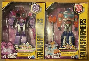 Large Scale Transformers Cyberverse Optimus Prime Decepticon Shockwave LOT LOOK!