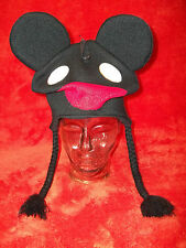 Black Deadmau5 Acrylic Knit Cap Hat with Ties *NEW w/ Tags* Free Shipping