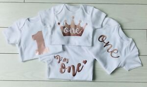 c88da5be7fb6a Luxury Girls 1st First Birthday Cake Smash Vest Top Outfit Set Rose ...