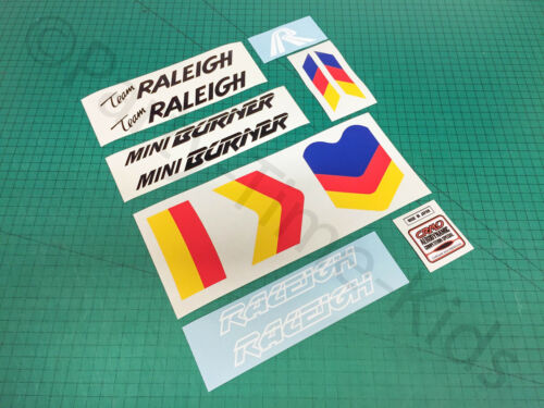 Raleigh Team Mini brûleur Custom Decal Set Old School Bmx stickers