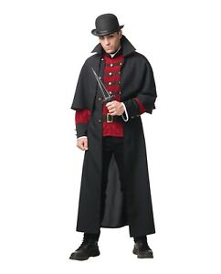 Mystery-Cloak-Adult-Halloween-Costume-Men-039-s-Victorian-Steampunk-Sherlock-Std-XL