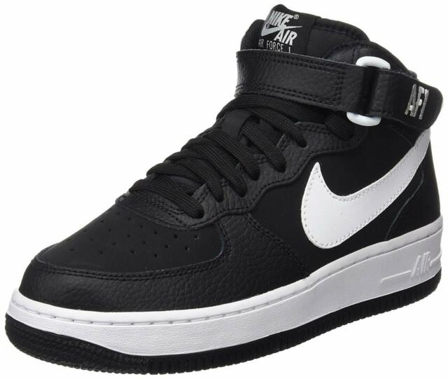 NIKE AIR FORCE 1 MID (GS) BLACK WHITE 314195 038 KIDS US SIZES
