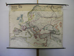 Europa 1922 Old Vintage Map Plan Chart In Short Supply Middel Europe