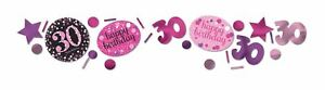 Pink-Feier-30-Geburtstag-3-Pack-Konfetti-34g