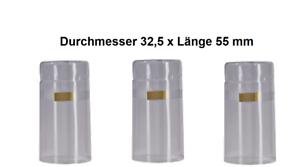 Schrumpfkapseln 50 Originalverschlusssiegel Flaschenkapseln Weinflasche 32,5klar