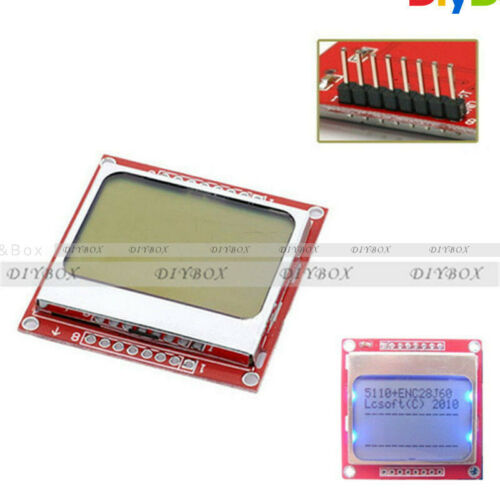 84x48 Nokia LCD Blue Module Backlight Adapter PCB for Nokia 5110 Arduino